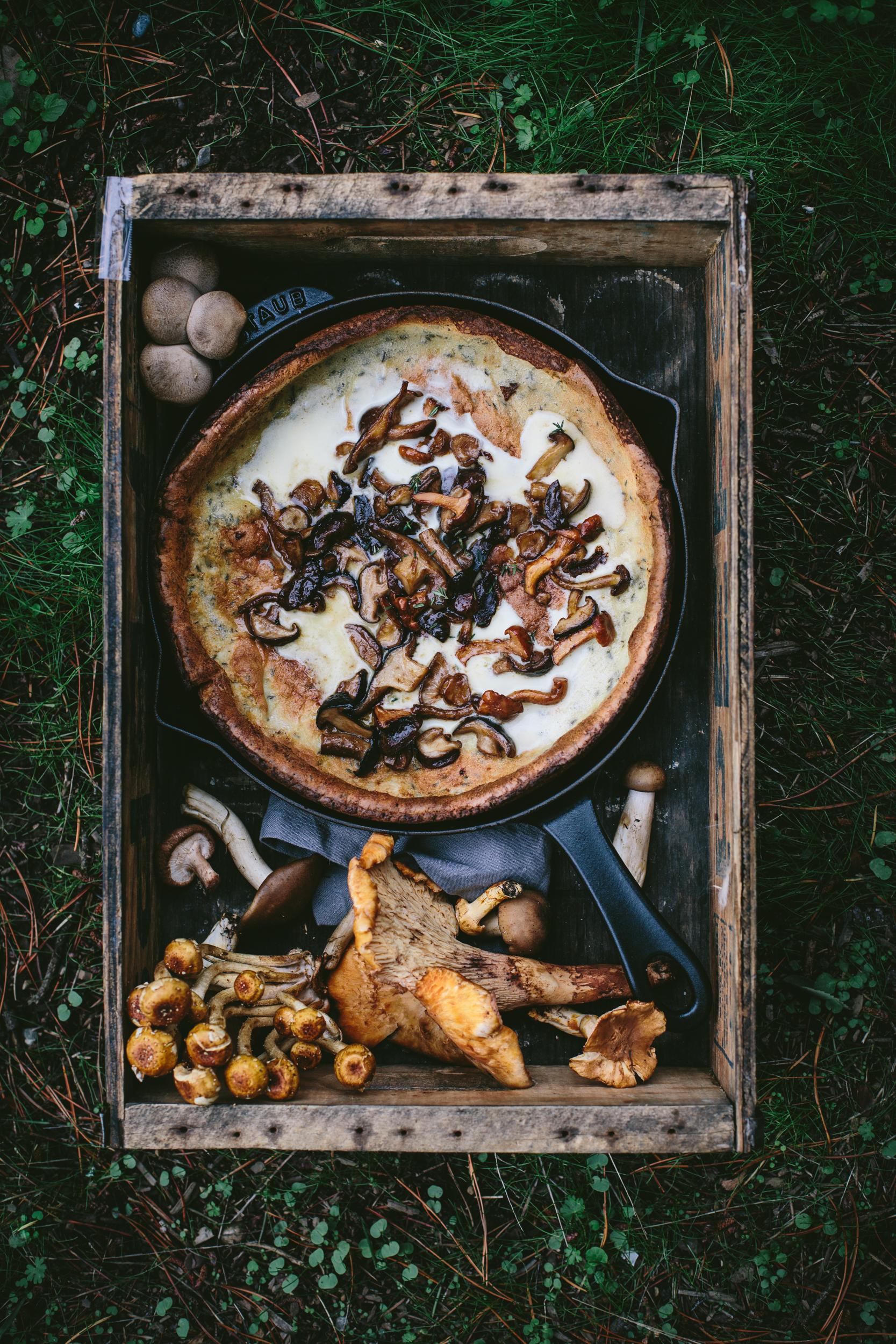 Online Photography Workshop + Savory Mushroom Dutch Baby by Eva Kosmas Flores   Adventures in Cooking