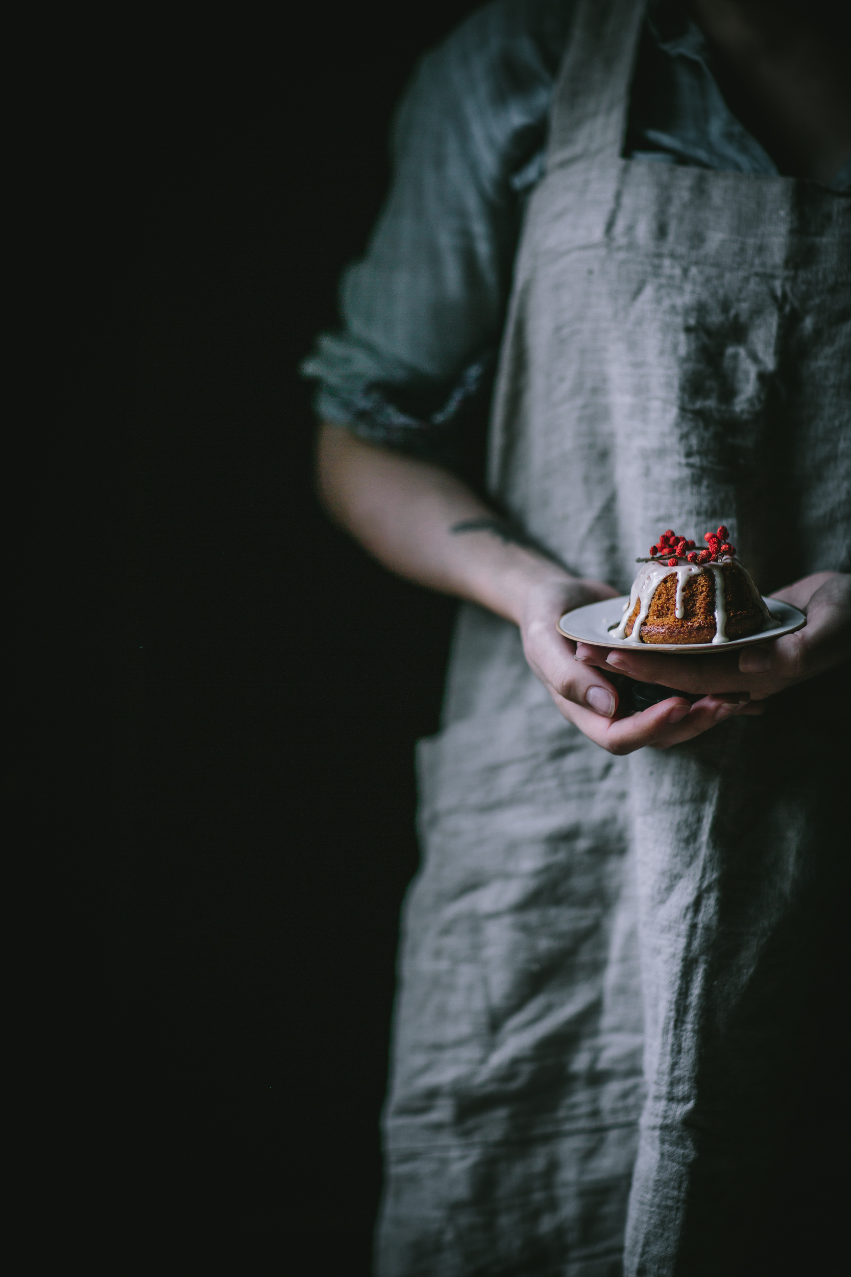 Pumpkin Mascarpone Mini Bundts with Creme Fraîche Glaze by Eva Kosmas Flores