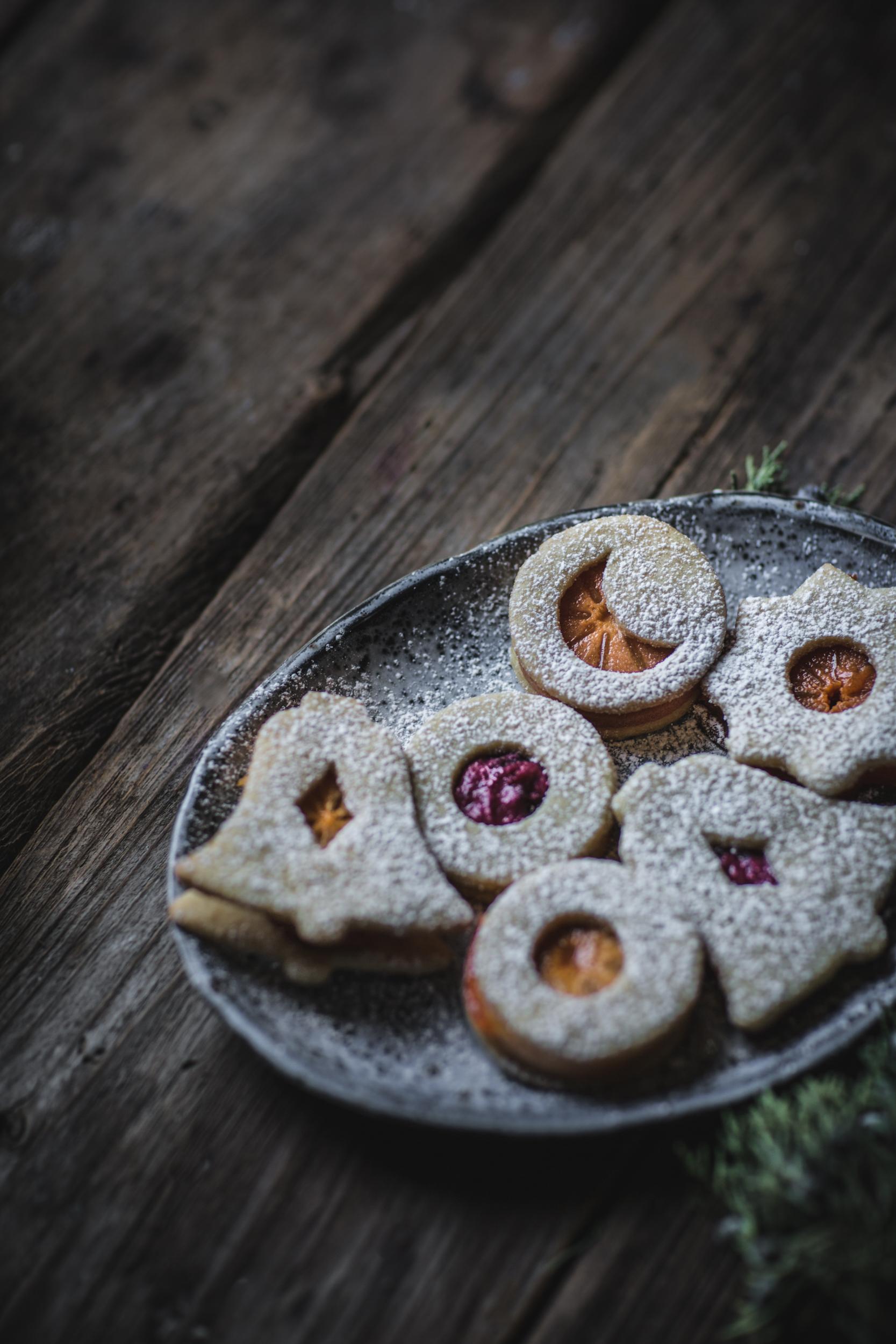 Linzer Cookies with Cranberry Mascarpone + Cinnamon ...