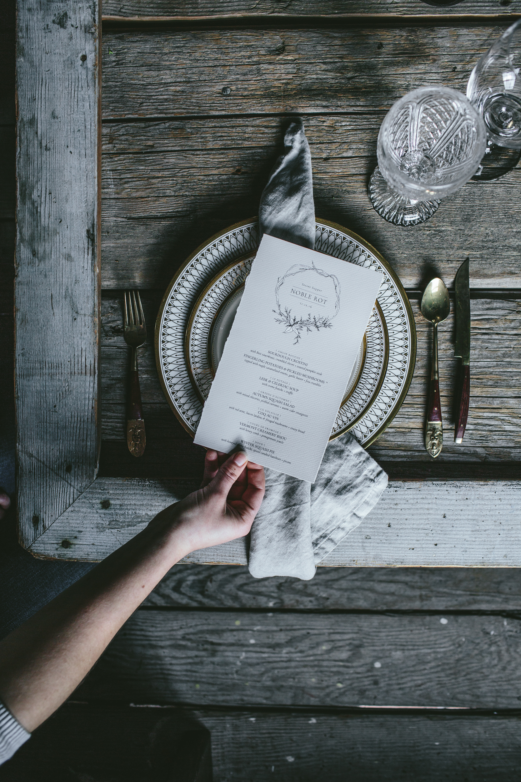 Secret Supper {Noble Rot} by Eva Kosmas Flores of Adventures in Cooking