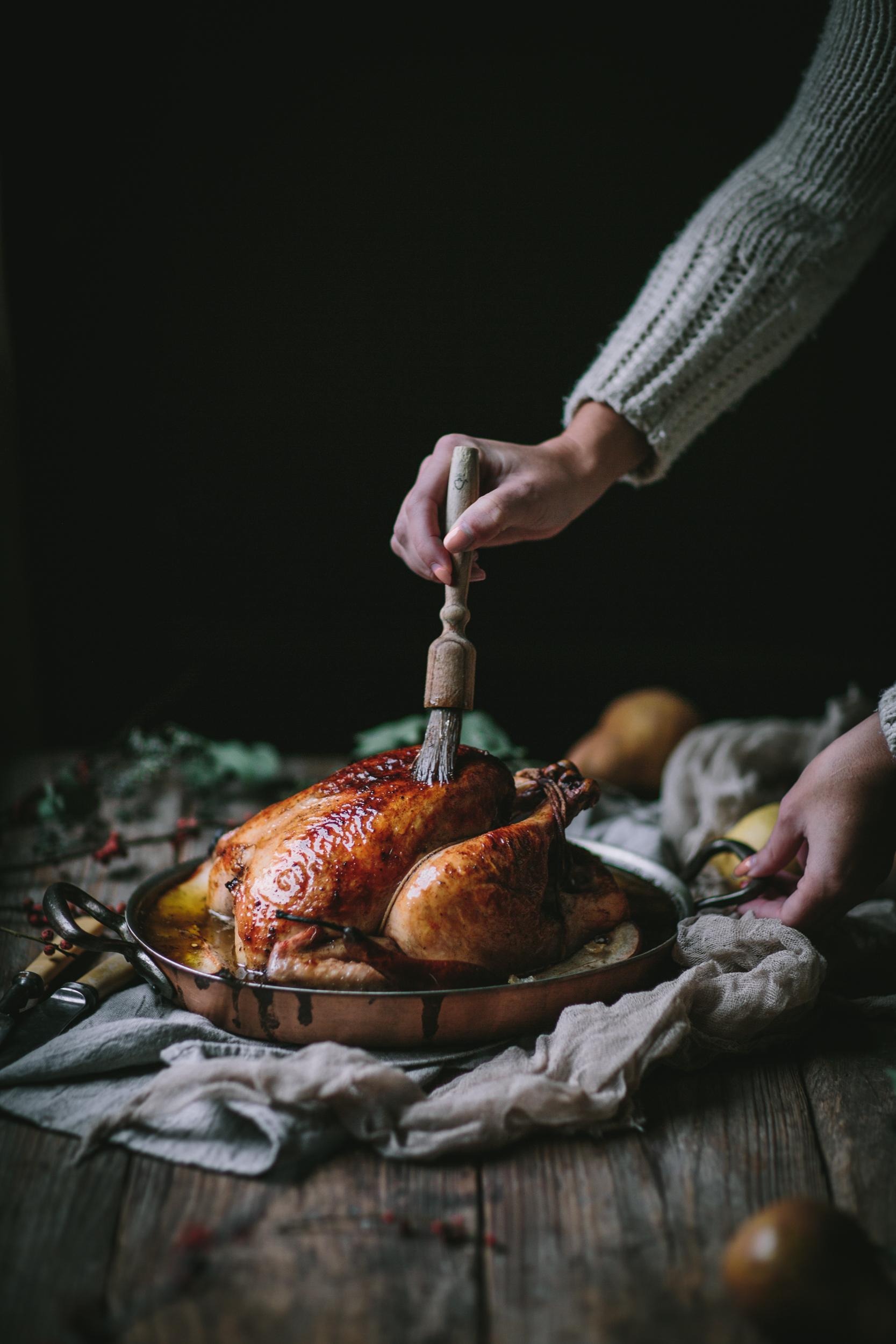 Vanilla Bean Brown Butter Roast Chicken by Eva Kosmas Flores | Adventures in Cooking
