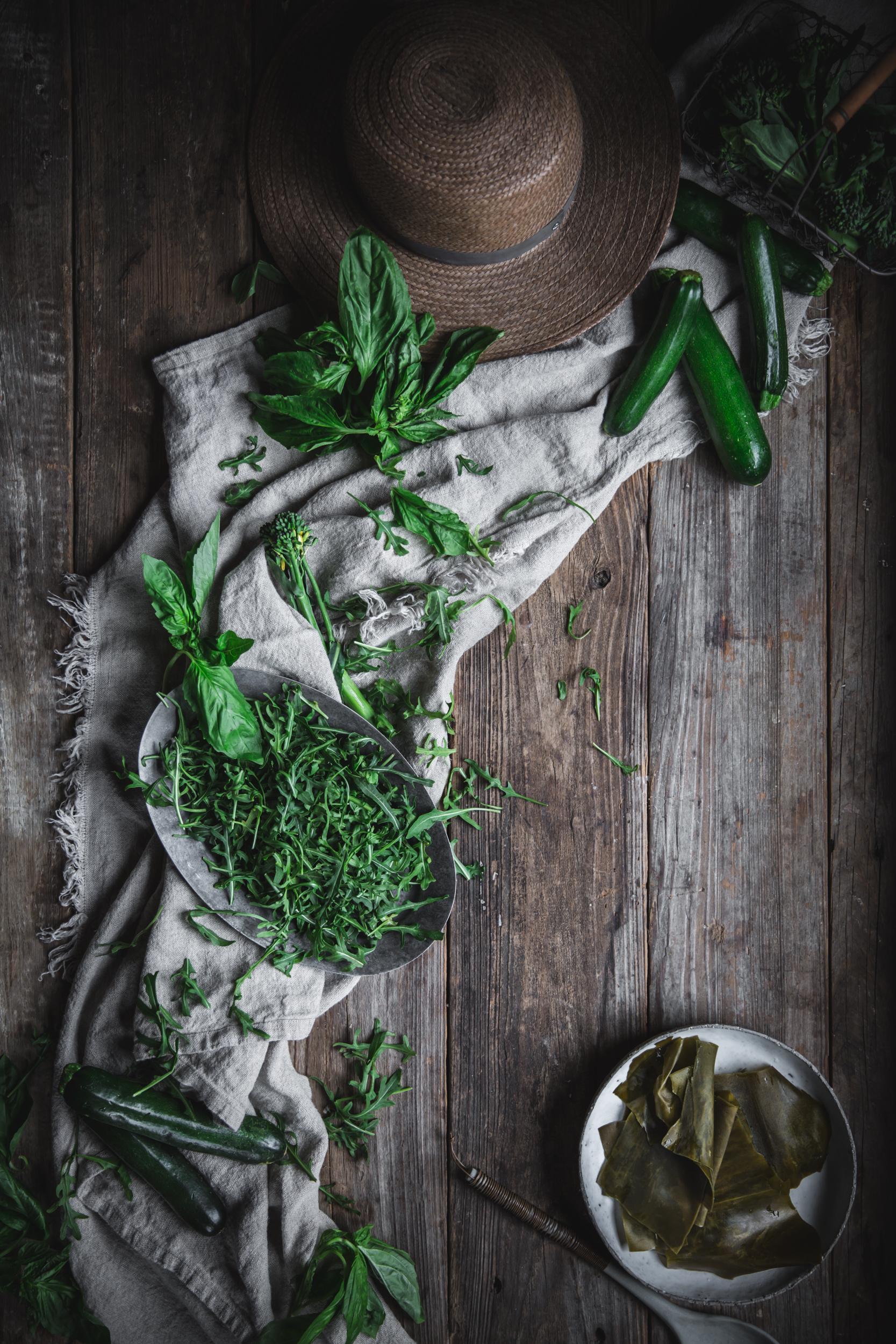 Zucchini Spaghetti with Seaweed Pesto