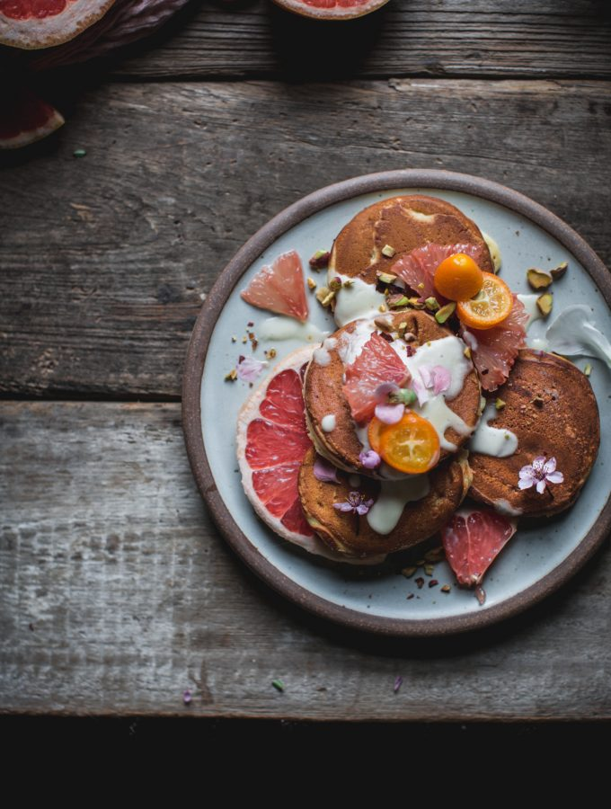 Grapefruit Mascarpone Pancakes with Maple Creme Fraiche and An Online Photography Workshop