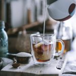 Homemade Iced Vanilla Latte with coldbrew coffee, homemade vanilla bean simple syrup, and a KitchenAid giveaway by Eva Kosmas Flores
