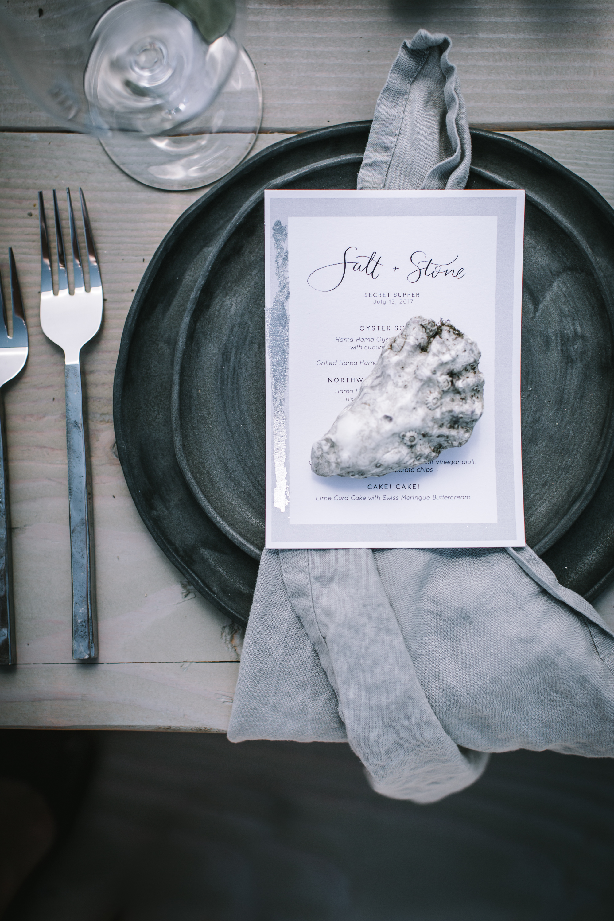 Secret Supper Salt and Stone Menus by Amy Rochelle Press