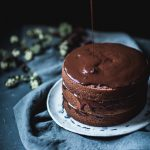Chocolate Buttermilk Espresso Cake by Eva Kosmas Flores