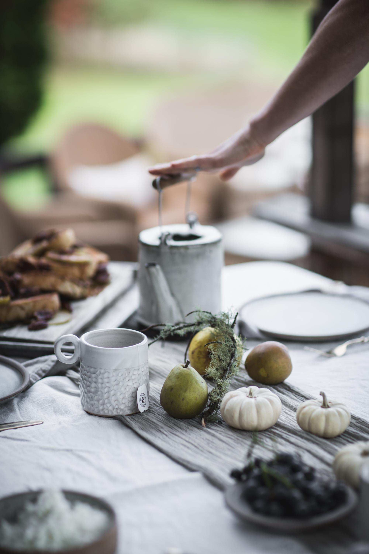 Apple Raisin Pecan Bread Pudding With Salted Caramel Drizzle With La Brea Bakery by Eva Kosmas Flores