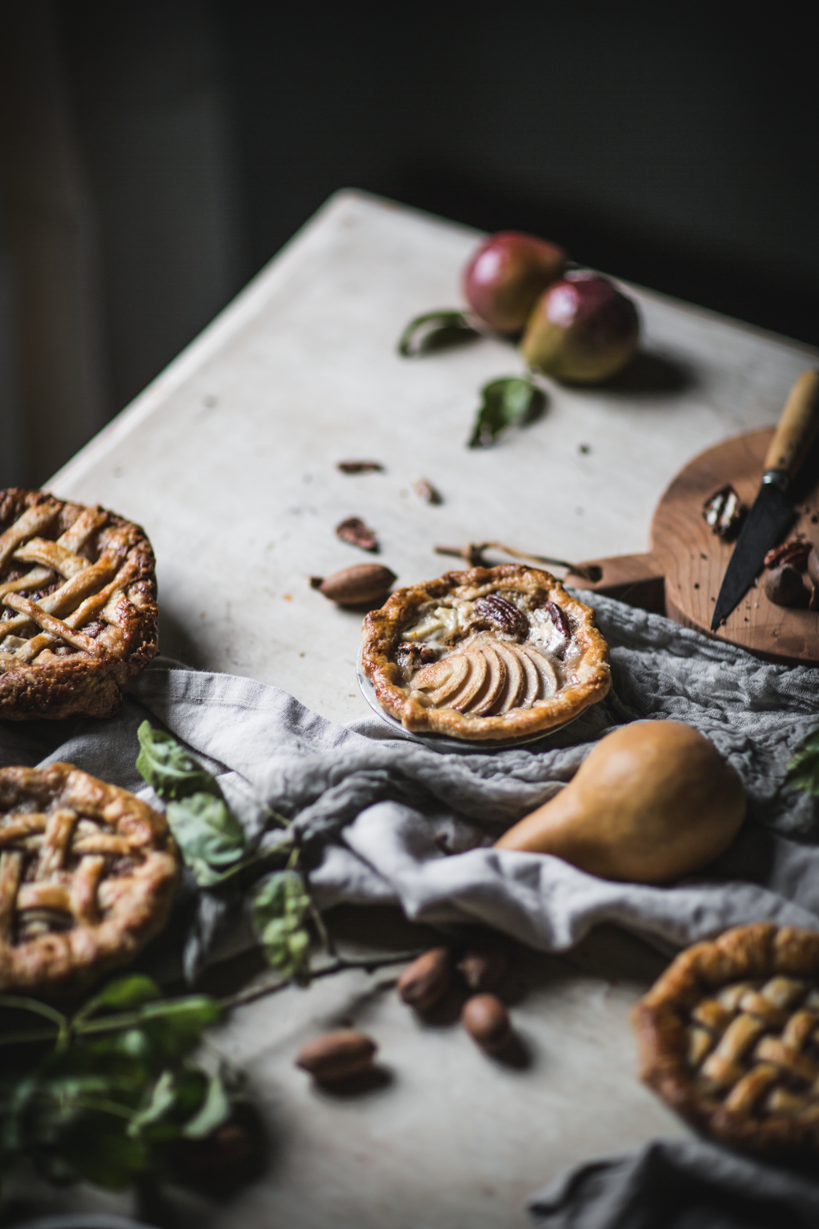 Easy Pear Pecan Creme Fraiche Mini Miniature Pies by Eva Kosmas Flores