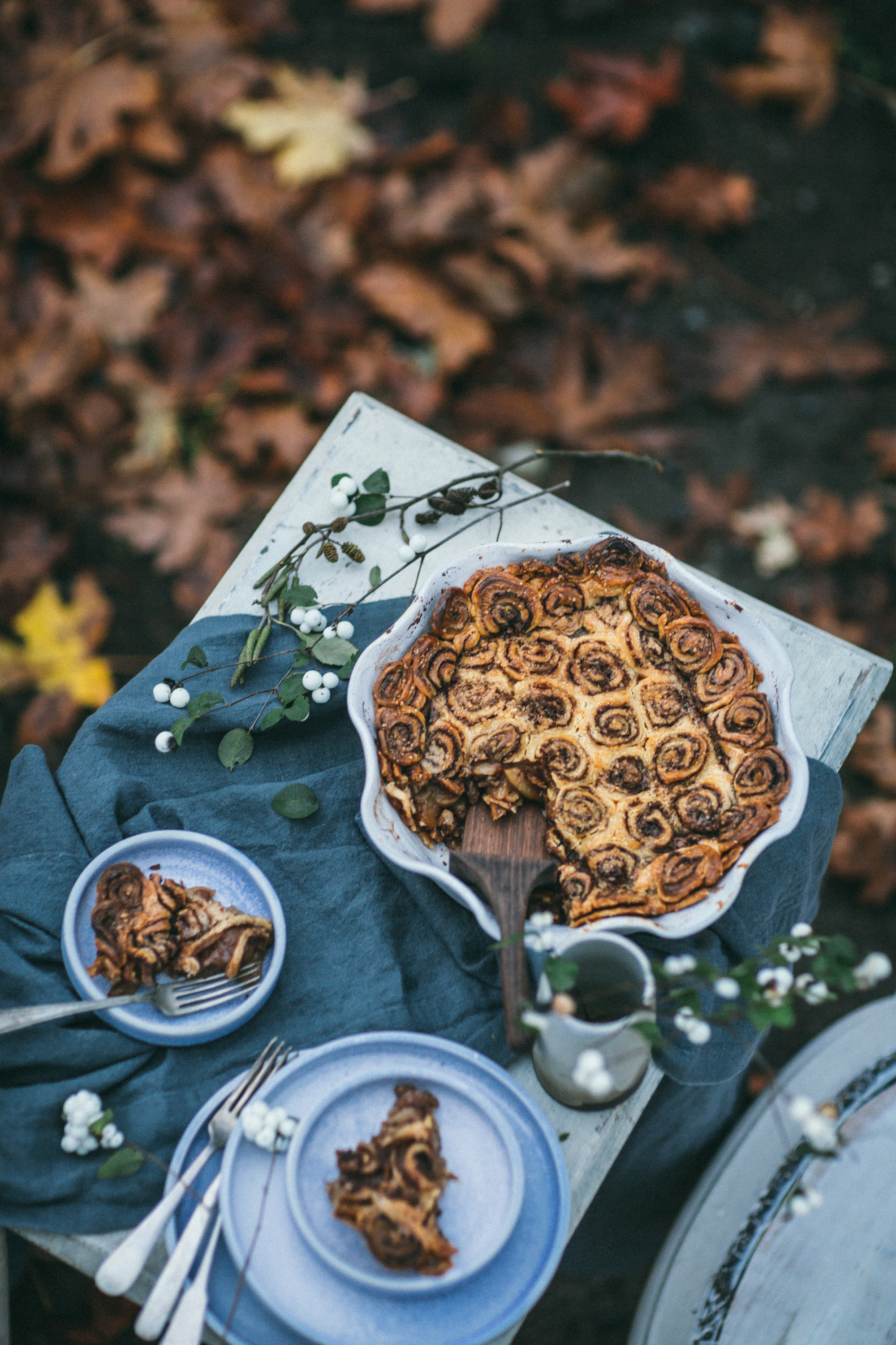 Cinnamon Roll Apple Pie from Lomelino's Pies by Eva Kosmas Flores and Tiffany of Oh Honey Bakes