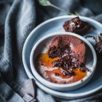 Molten Chocolate Lava Fudge Cakes with Cold Brew Syrup Easy Fast Dessert Recipe