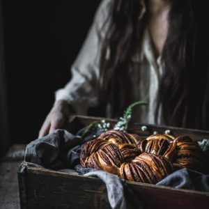 Woven Chocolate Cinnamon Bread by Eva Kosmas Flores