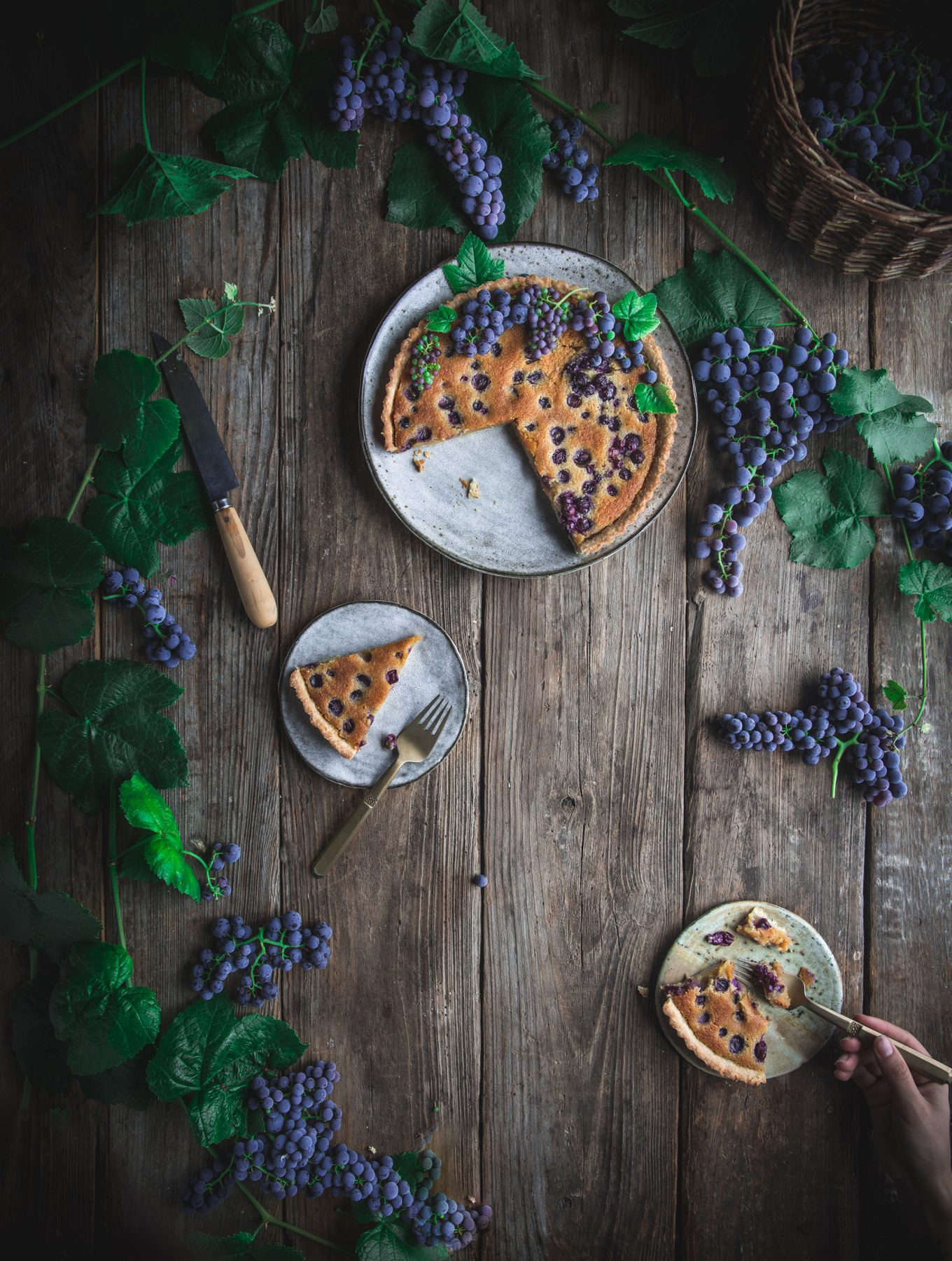 Roasted Grape and Almond Tart + A 'First We Eat' Cookbook Dinner At FeedFeed