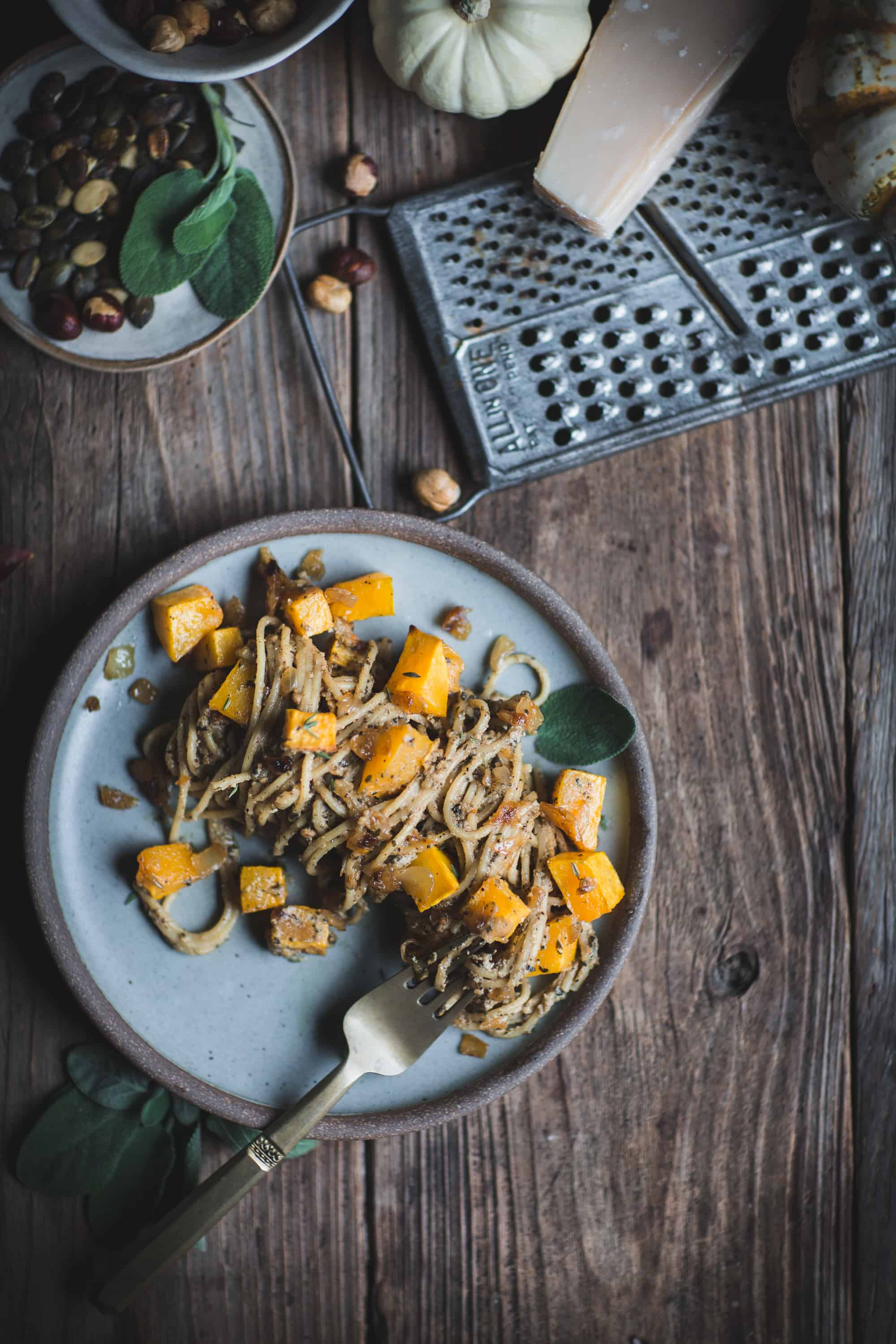 Hazelnut and Butternut Squash Spaghetti by Eva Kosmas Flores