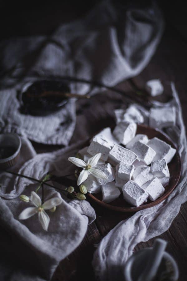 Homemade Lavender Black Currant & Vanilla Bean Rose Marshmallows