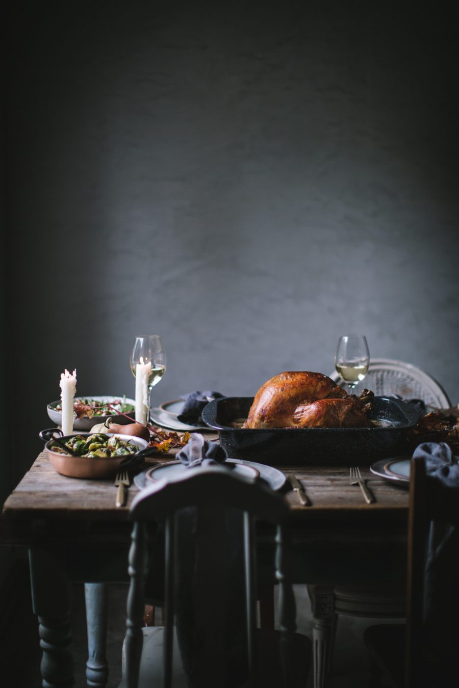 Roast Turkey with Pears & Sage