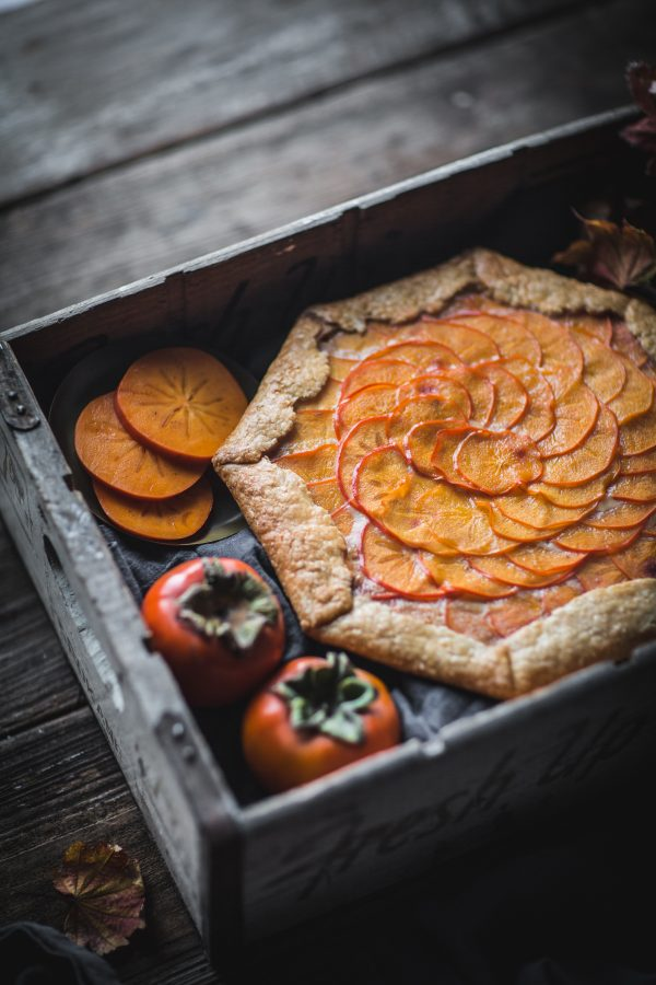 Persimmon Galette with Mascarpone Filling