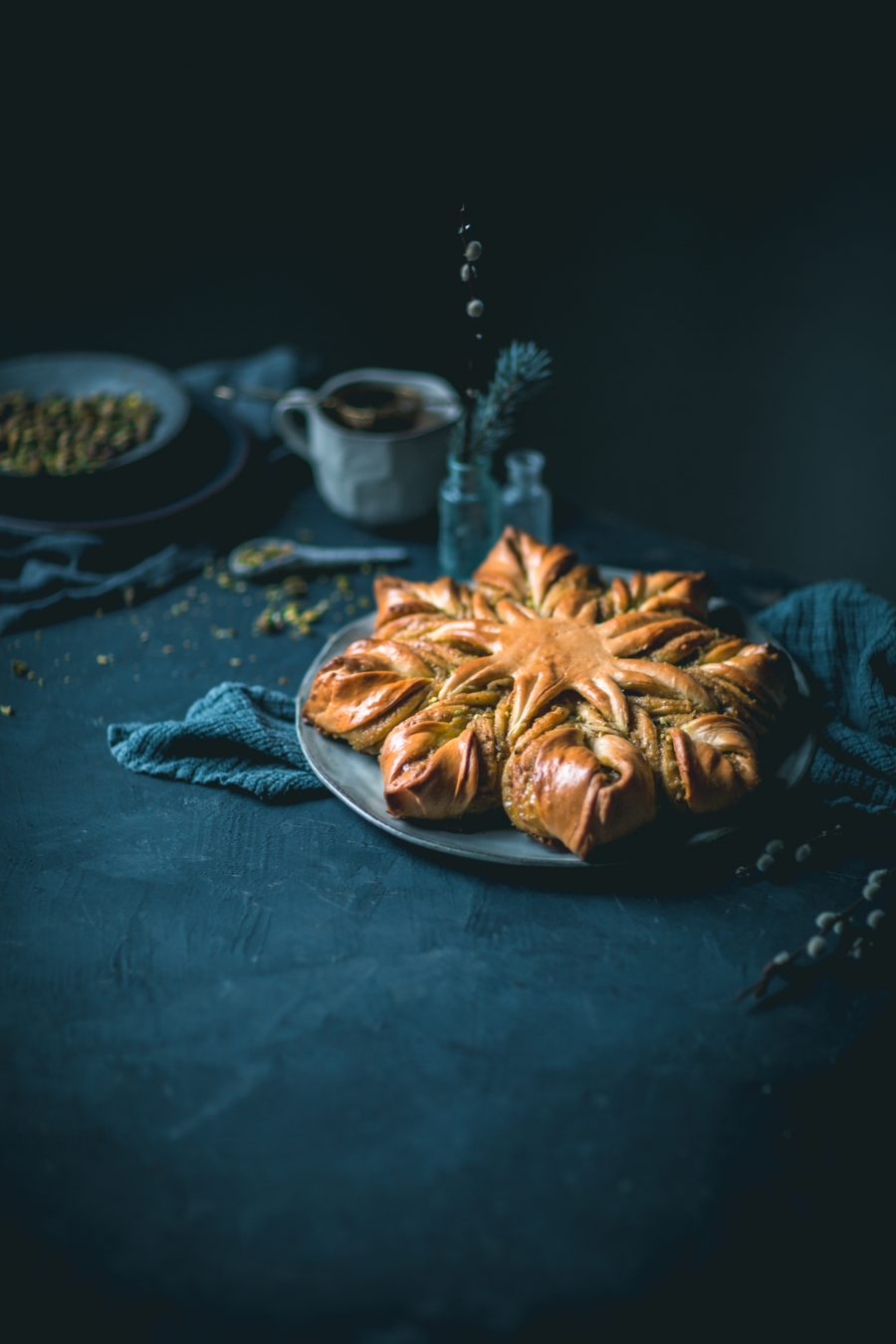 Pistachio Star Bread