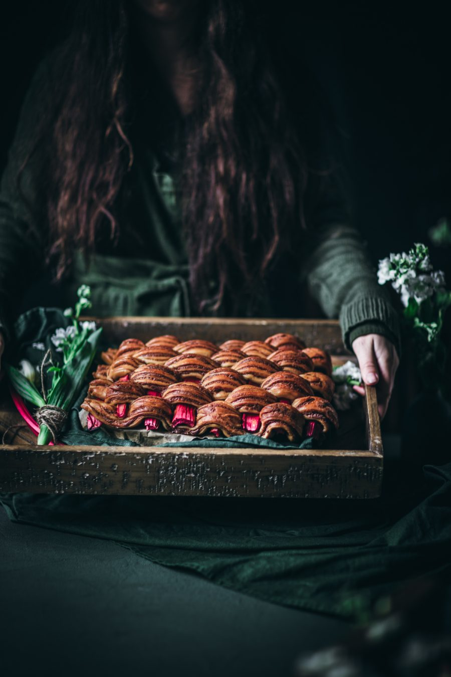 Rhubarb Braided Cinnamon Bread