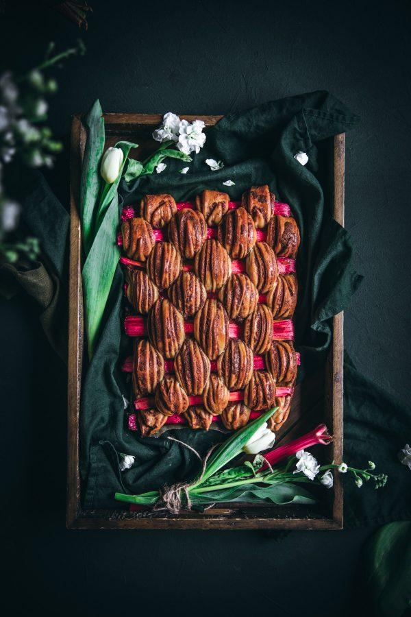 Rhubarb Braided Cinnamon Bread