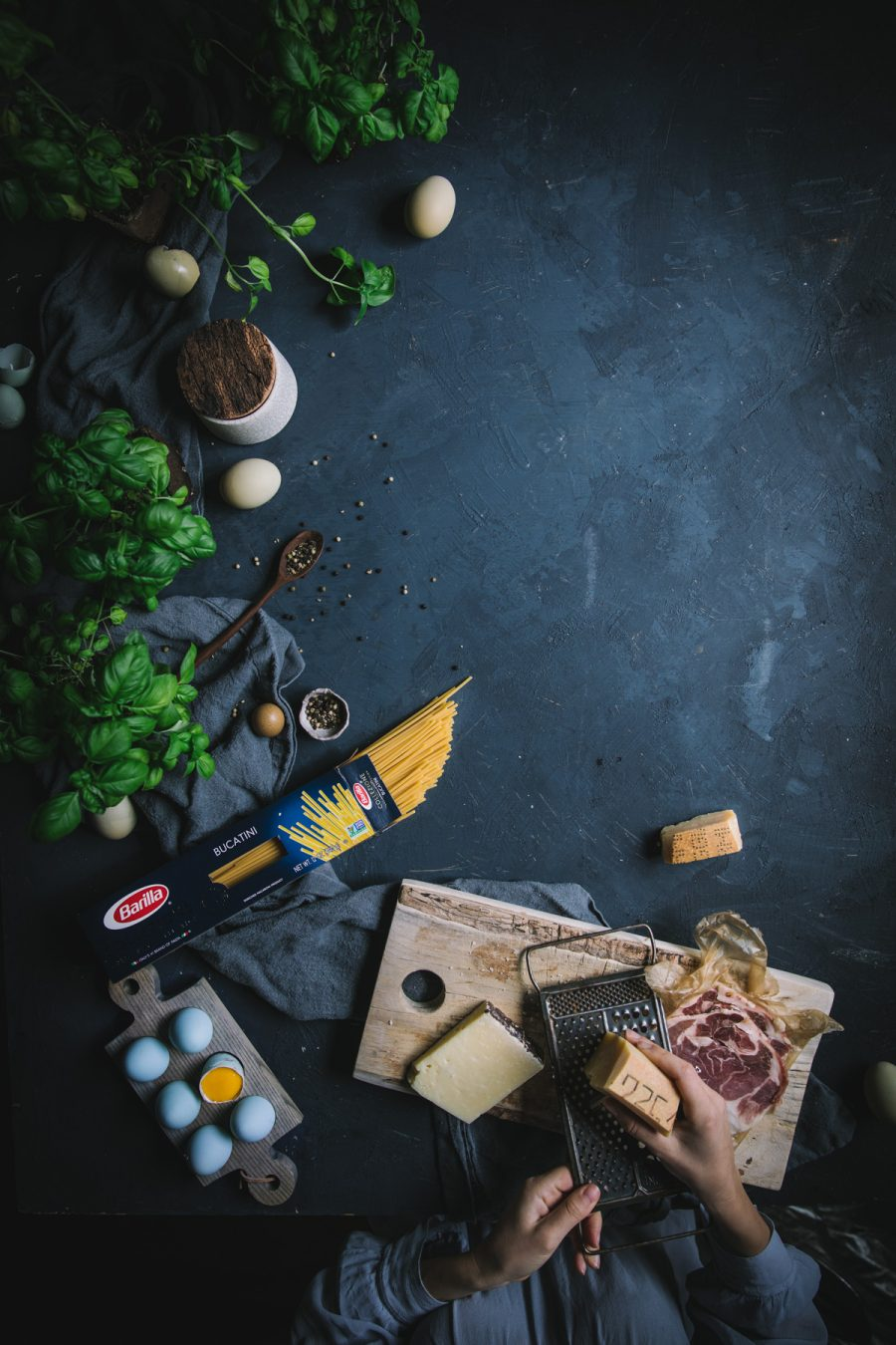 Bucatini Carbonara by Eva Kosmas Flores