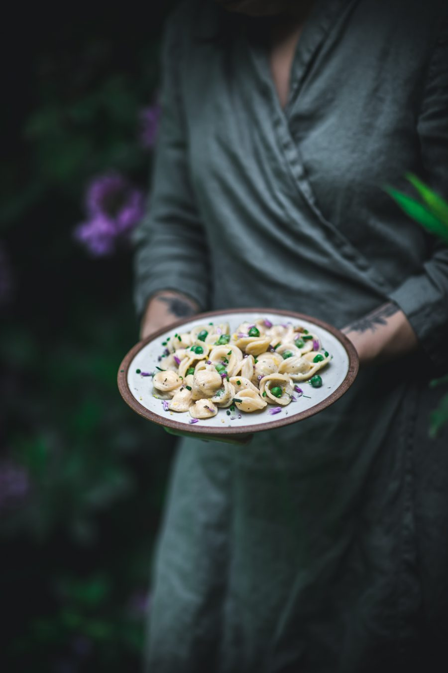 Chive and Chicken Orecchiette in a Rosemary Lemon Sauce