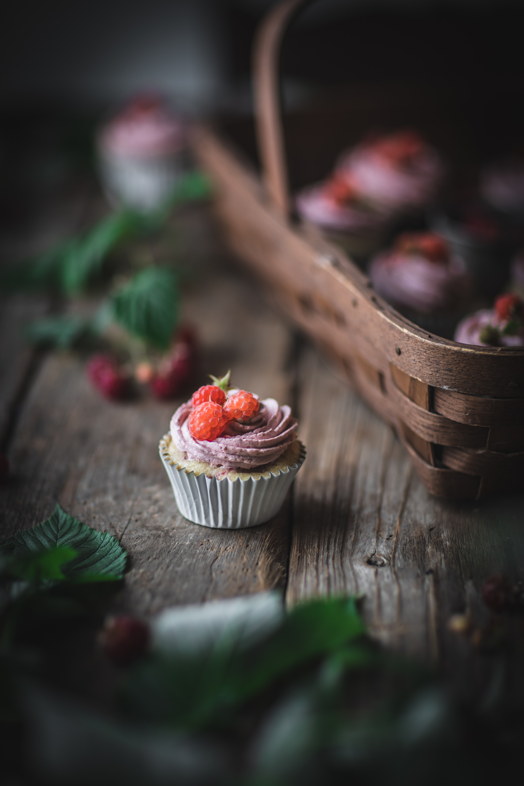 Raspberry Cupcakes with Cream Cheese Buttercream