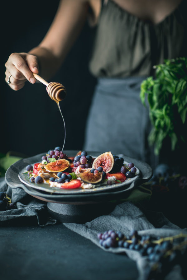 Grape and Fig Summer Salad with Prosciutto and Balsamic