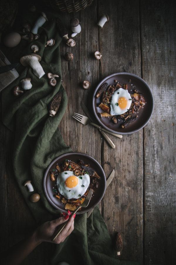 Mushroom Toast with Eggs