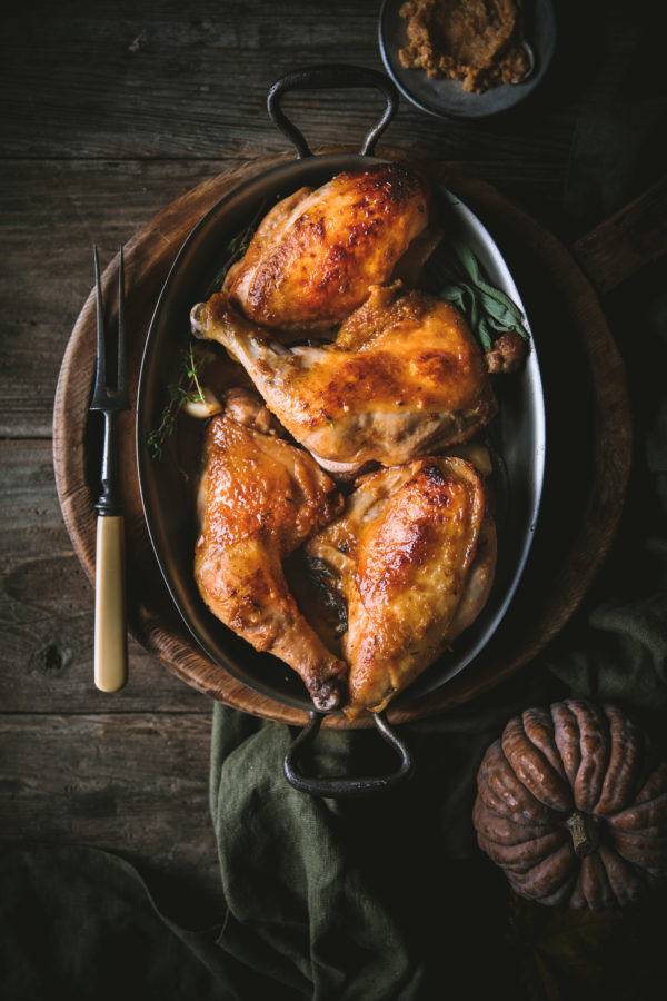 Miso Maple Butter Roast Chicken
