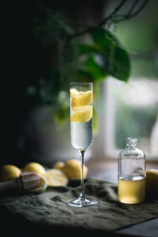 Ginger French 75 Cocktail