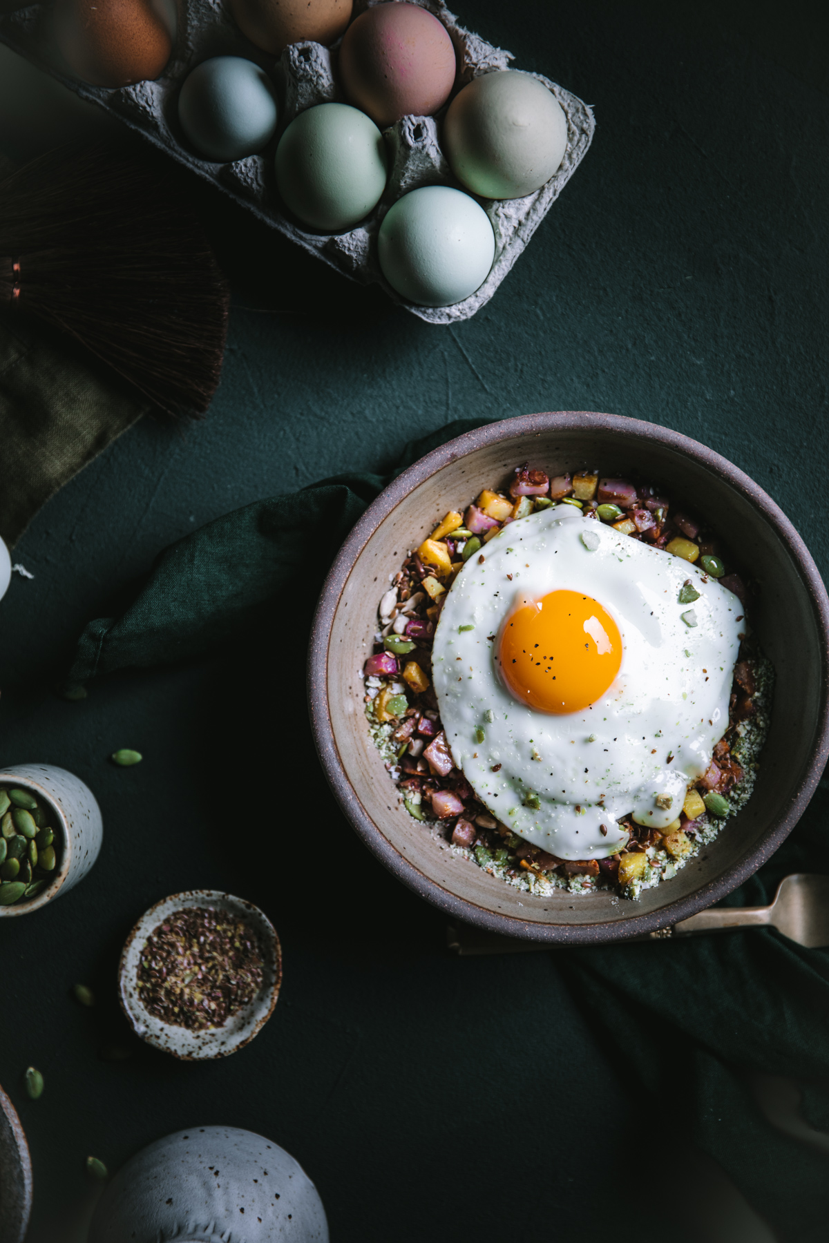 Seed Cycling Skillet Potatoes and Eggs