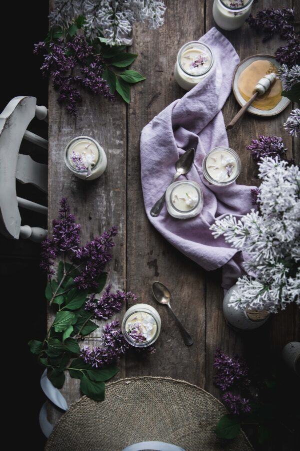 Lilac Panna Cotta