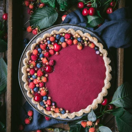 Berry Curd Tart