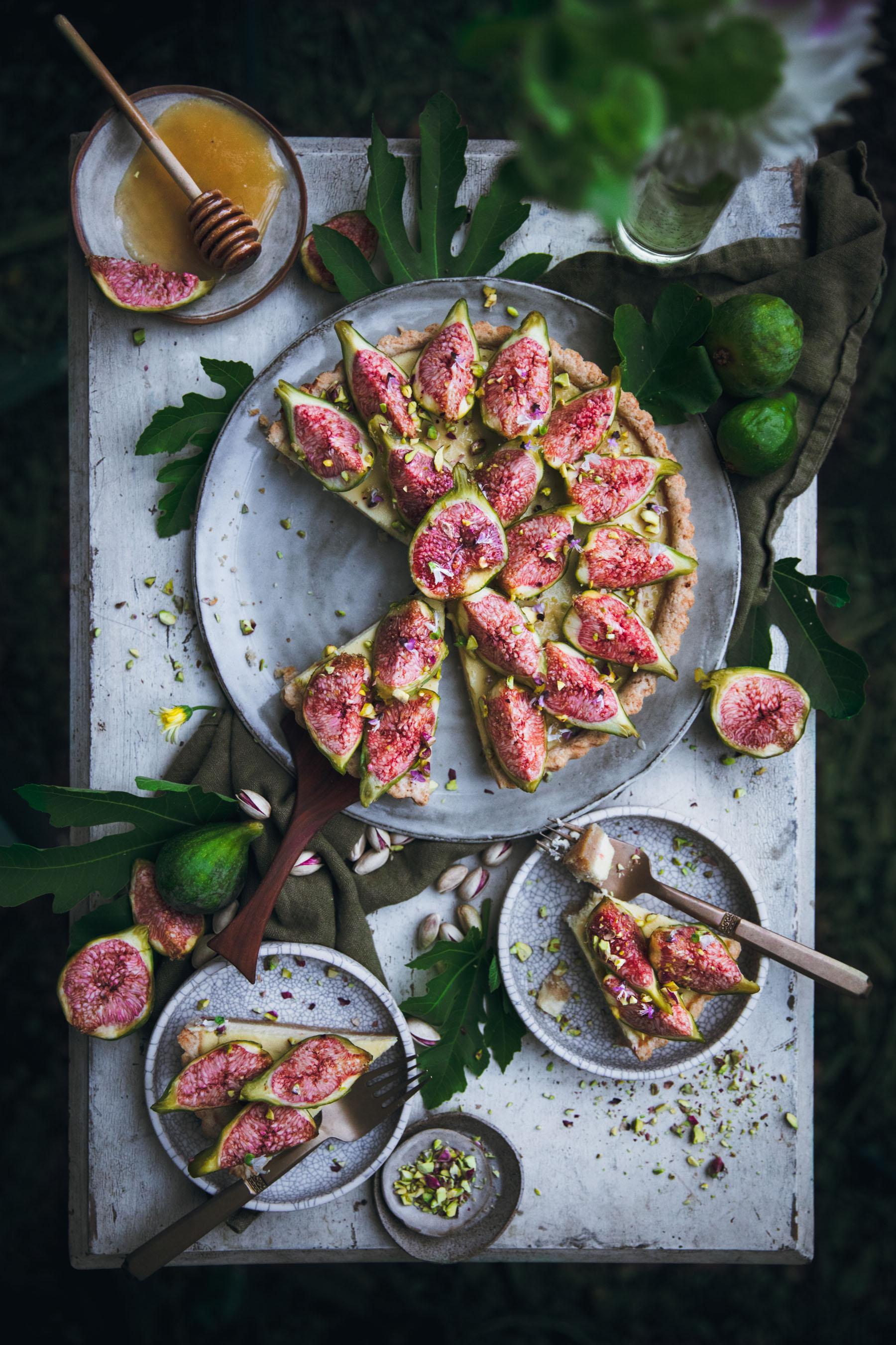 Fig Cheesecake Tart