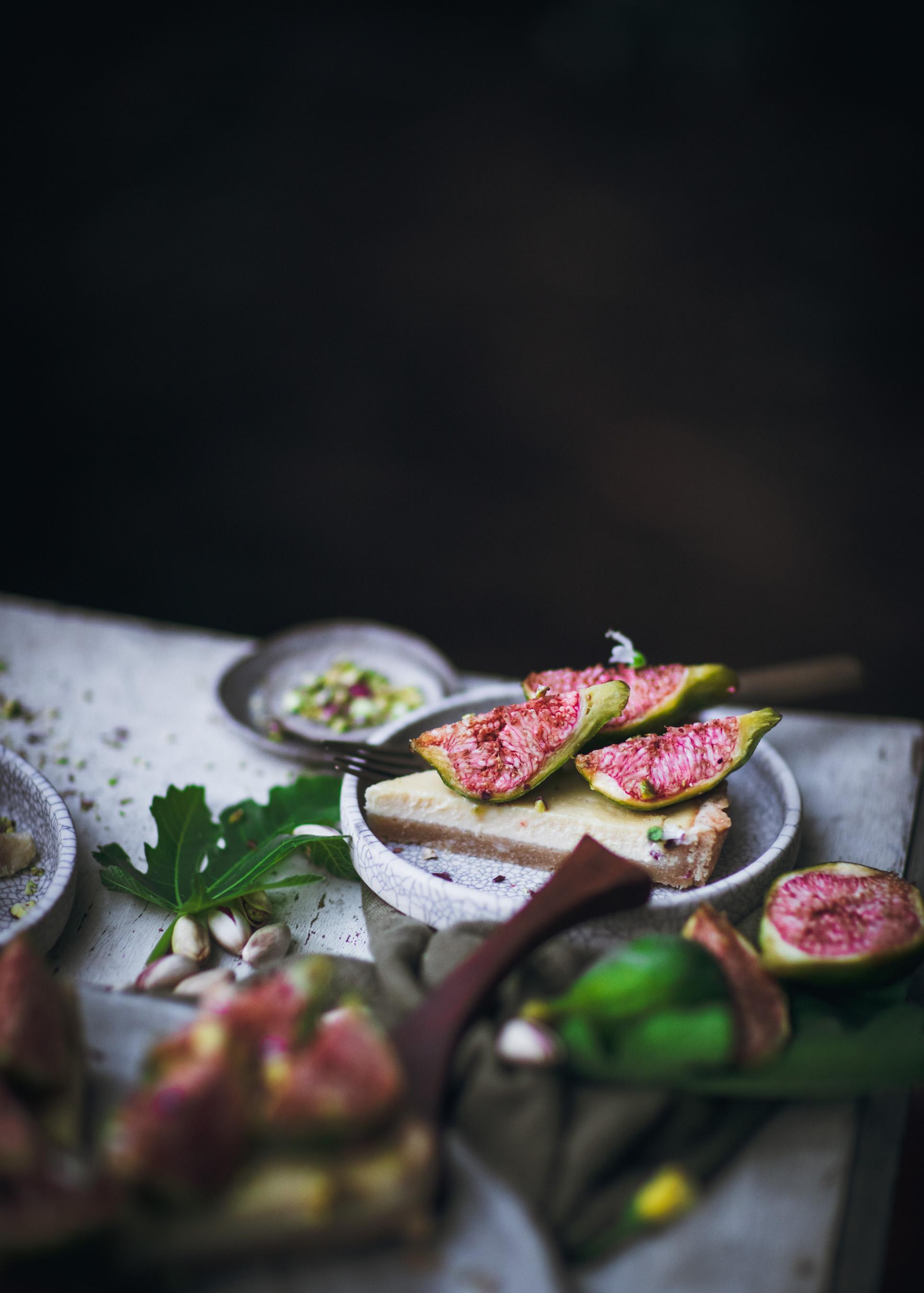 Sliced Fig Tart