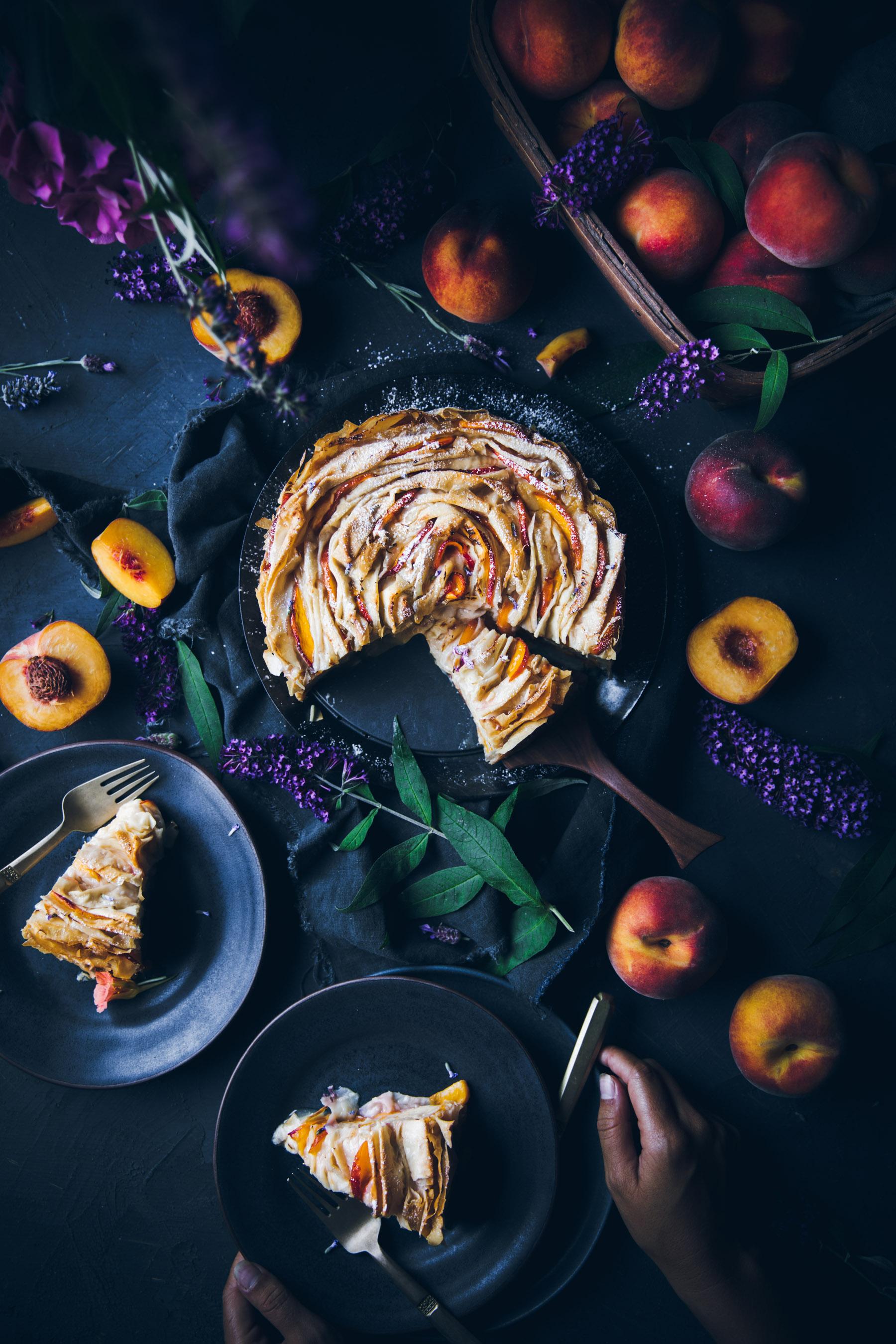 Peaches and Cream Strudel