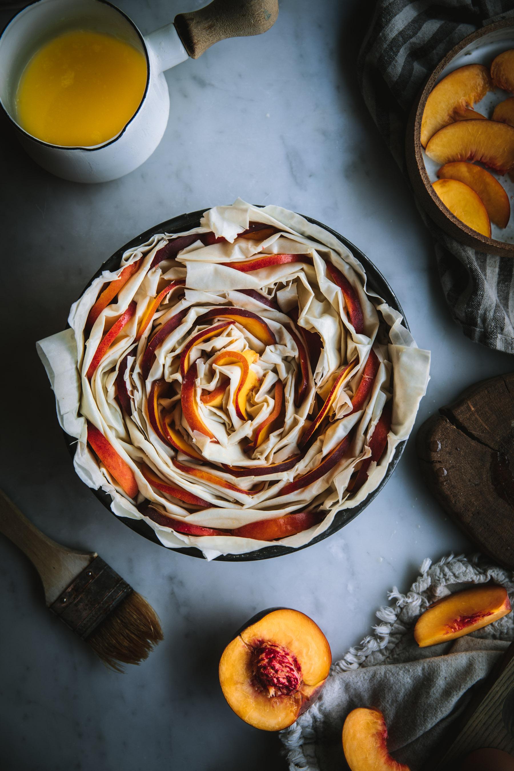 Peaches and Cream Filo