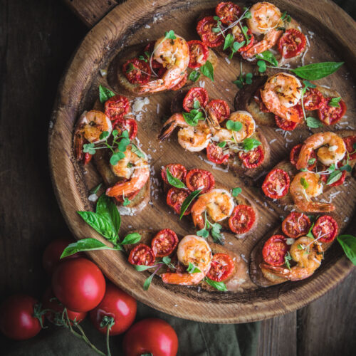 Garlic Shrimp Bruschetta