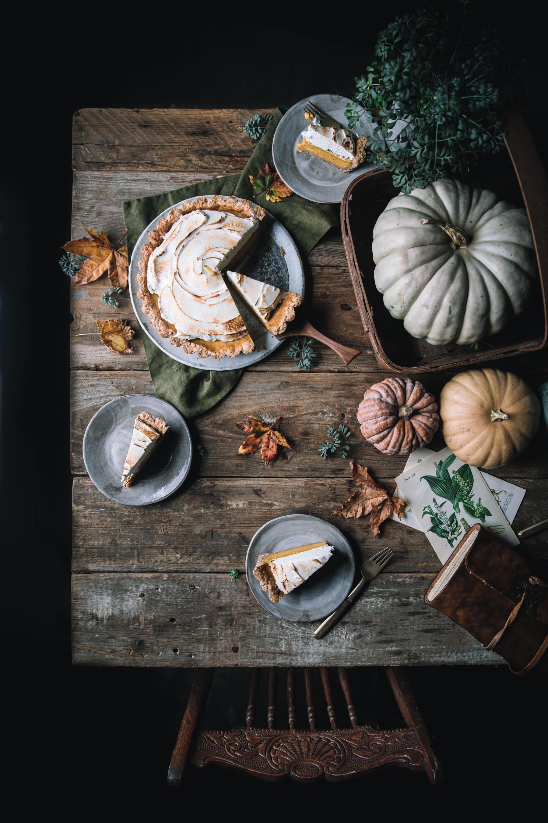 Pumpkin Meringue Pie with a Graham Cracker Crust