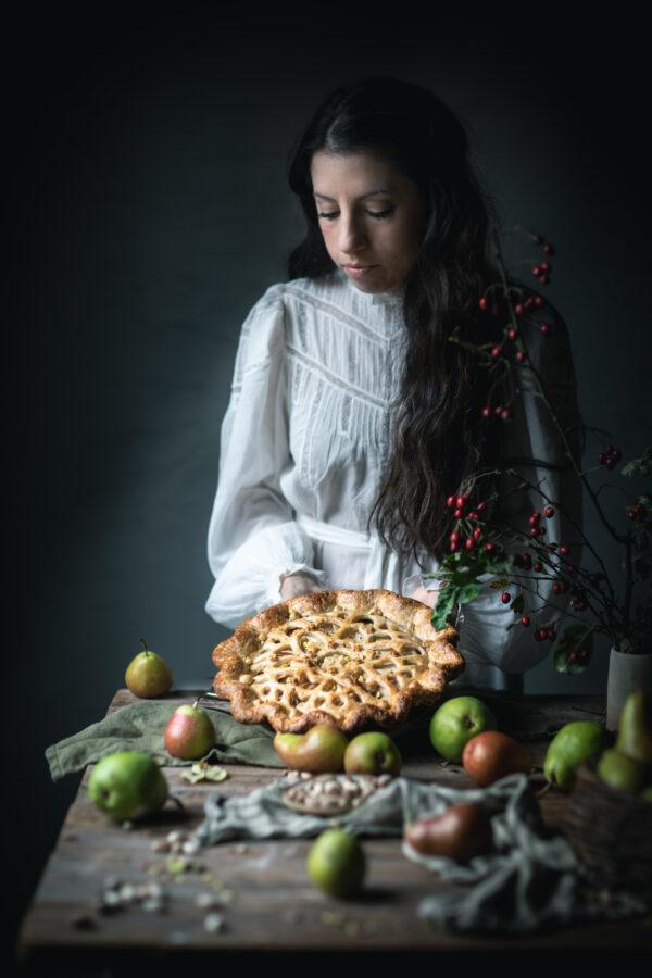 Eva Kosmas Flores Pear and Pistachio Pie
