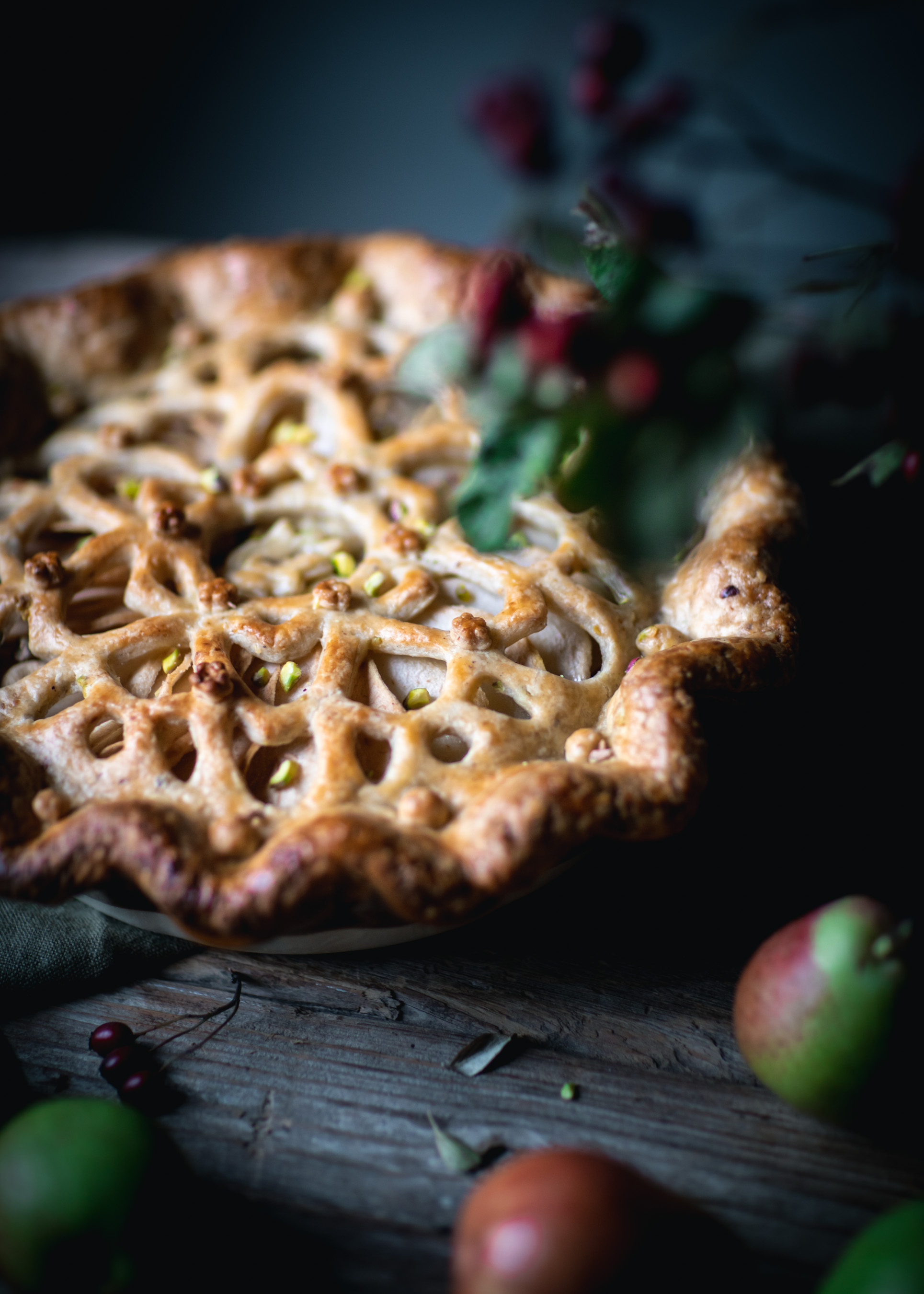 Pear and Pistachio Pie