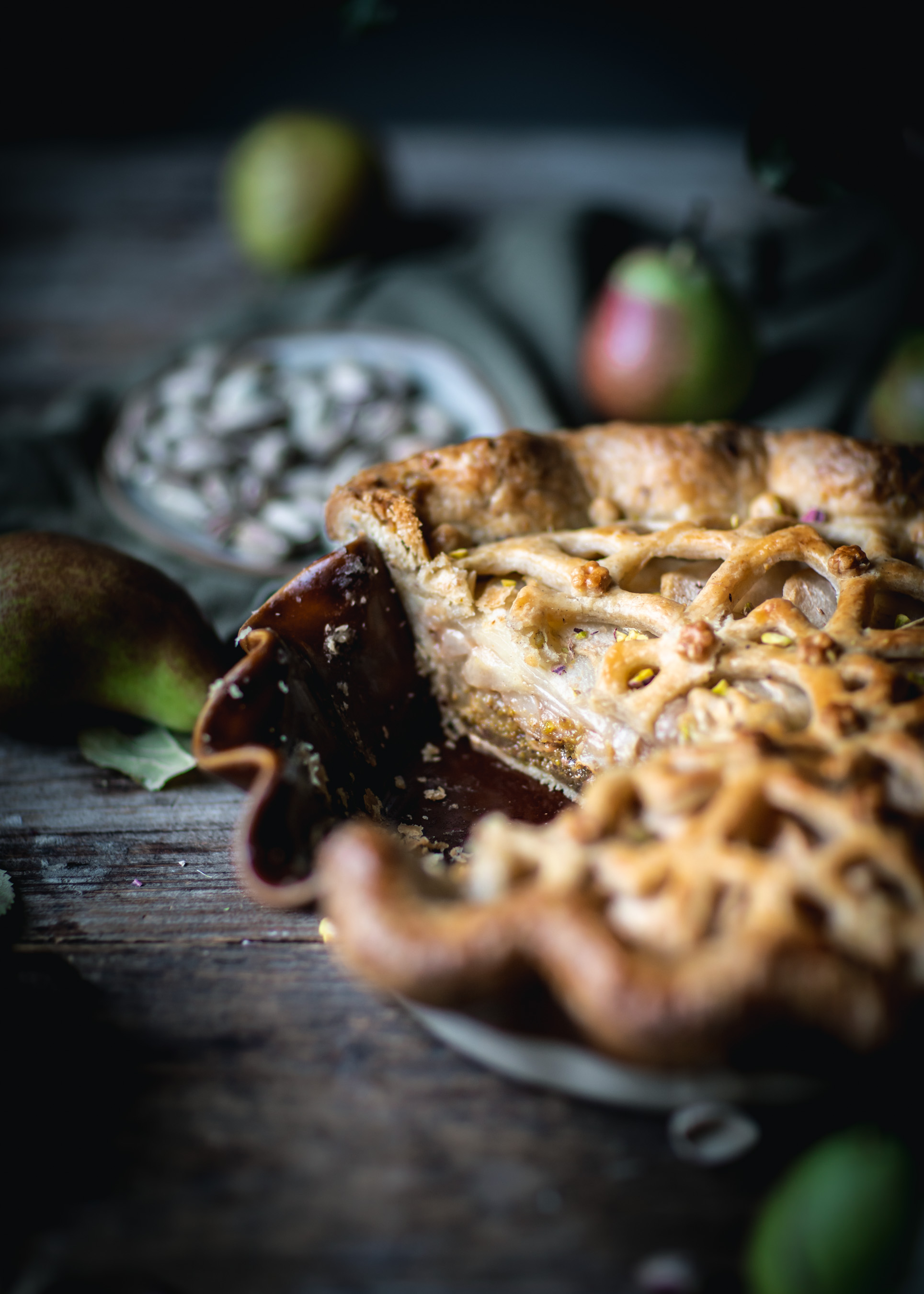Sliced Pear Pie