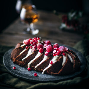 Gingerbread Loaf Cake with Cream Cheese Glaze