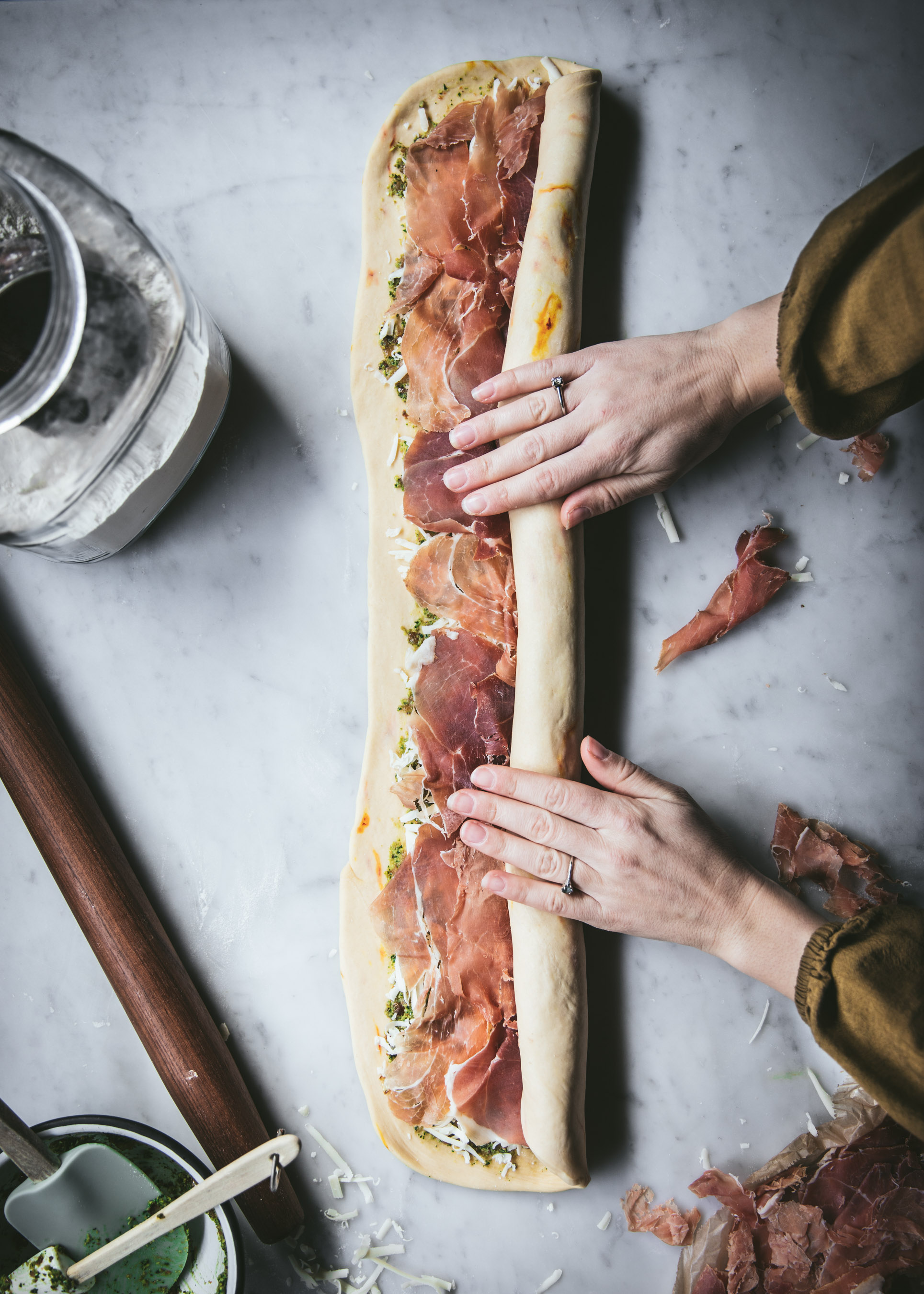 Rolling Savory Bread