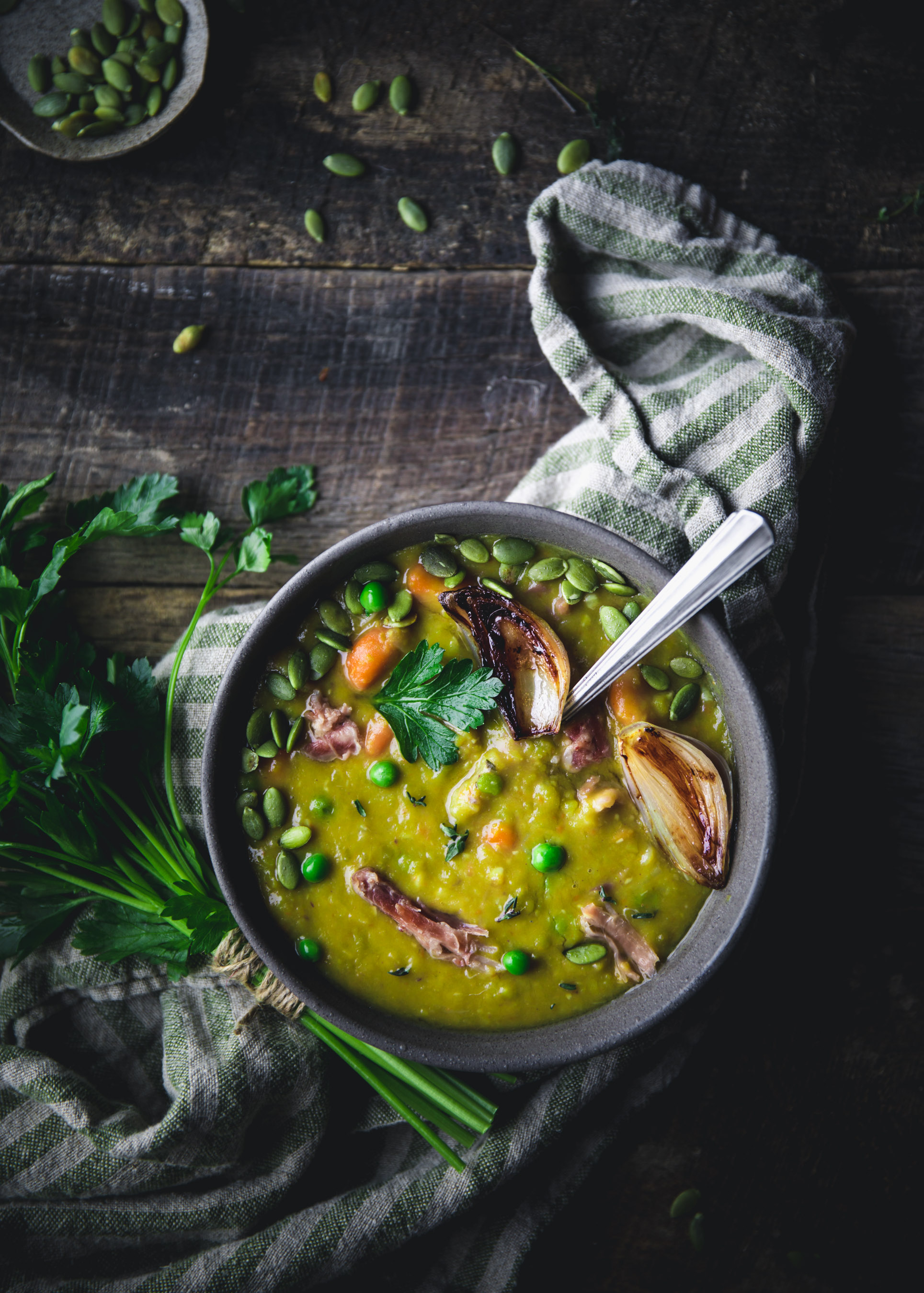Split Pea Soup with Ham Hock