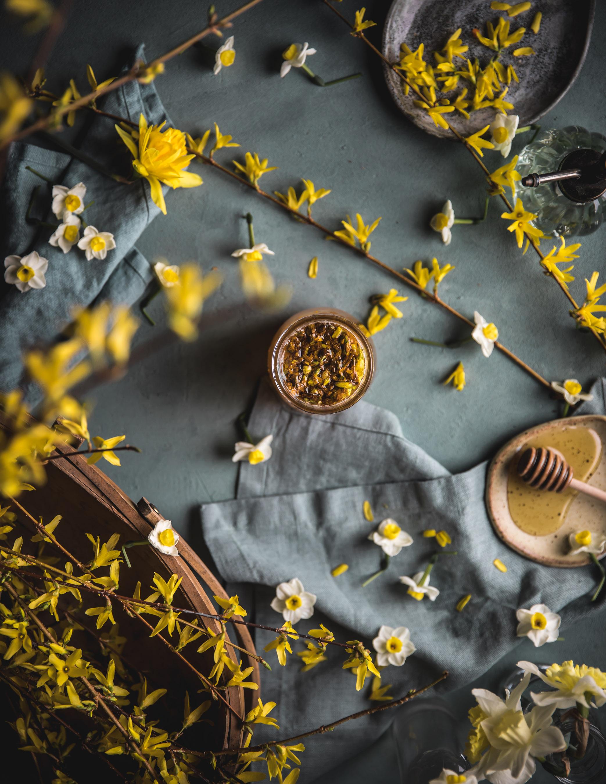 Lemon and Forsythia Syrup