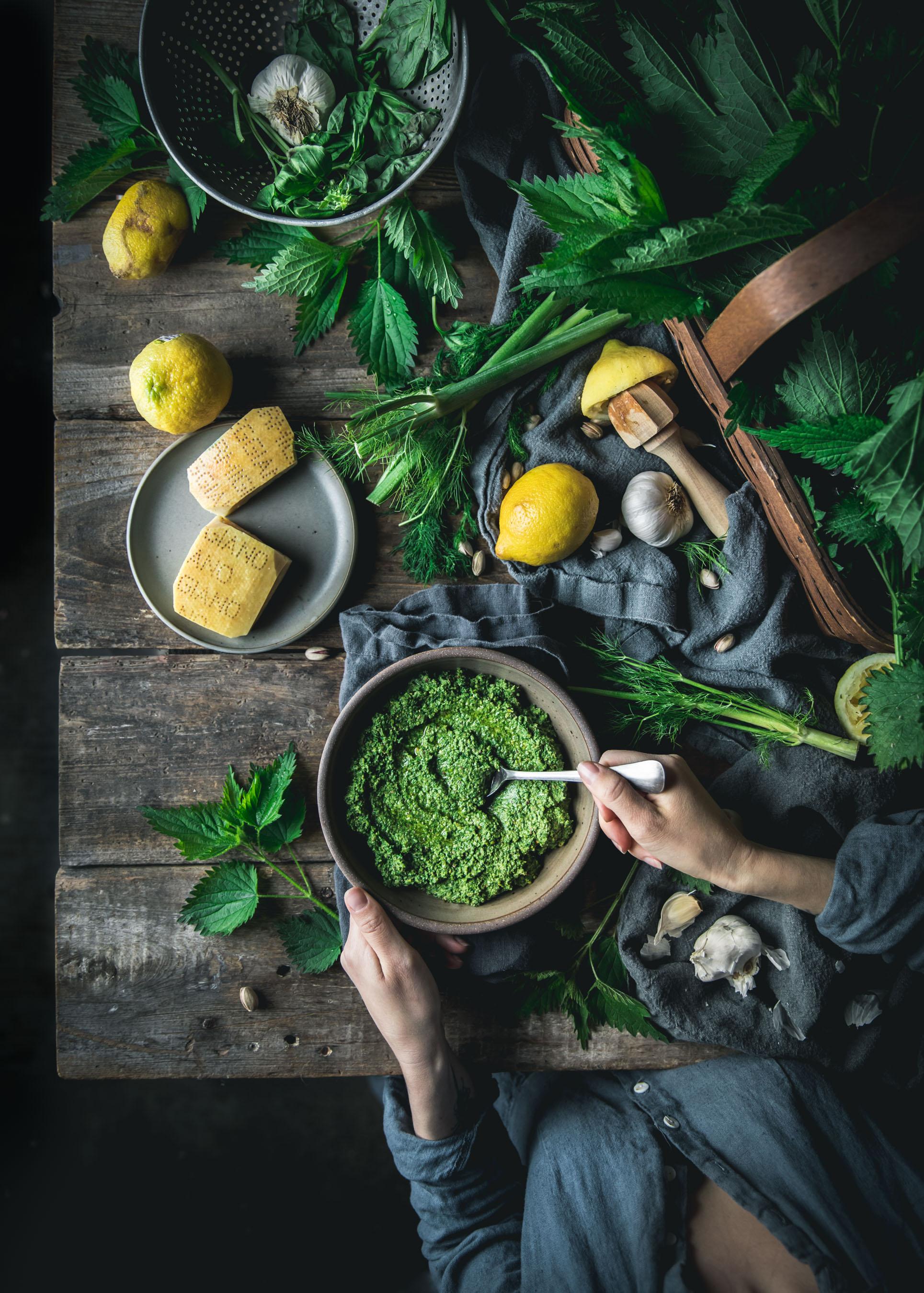 Nettle Pistachio Pesto
